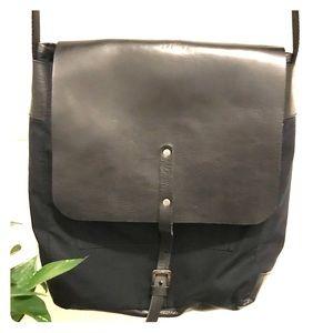 Bensimon canvas leather messenger bag